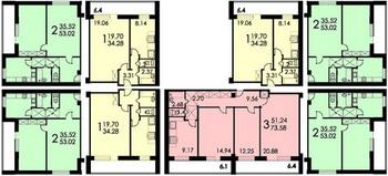 Башня вулыха-кирпичные дома- типовые планировки квартир - ин.